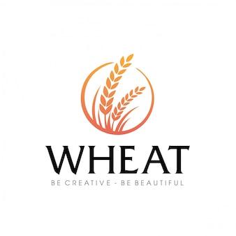 Logotipo de la agricultura de trigo