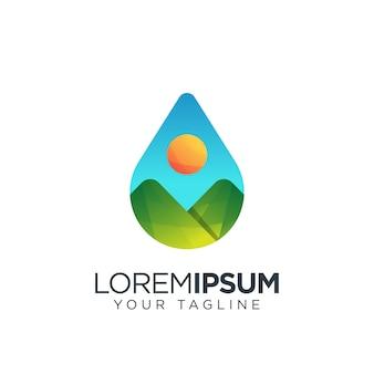 Logotipo de agua de montaña