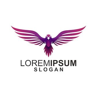 Logotipo de águila en blanco