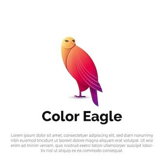 Logotipo de águila colorida, plantilla