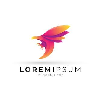 Logotipo de águila degradado