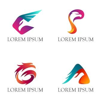 Logotipo de águila con inicial g