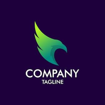Logotipo de águila moderna
