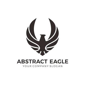 Logotipo de águila negra moderna