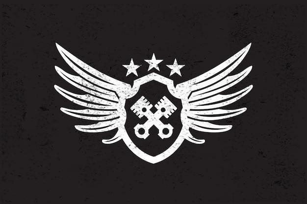 Logotipo de ala automotriz.