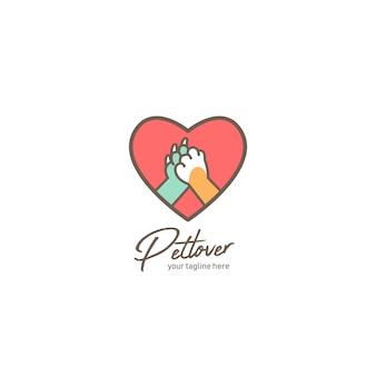 Logotipo de amante de mascotas