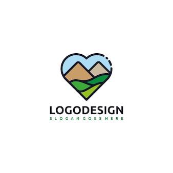 Logotipo de amor y viaje