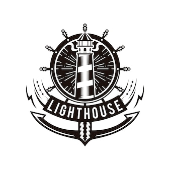 Logotipo del ancla del faro