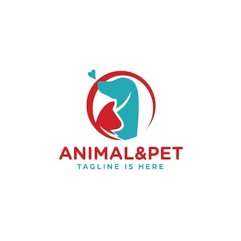 Logotipo de animales y mascotas