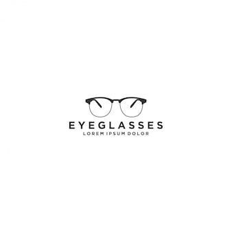 Logotipo de anteojos, moderno y simple logotipo de cristal de ojo