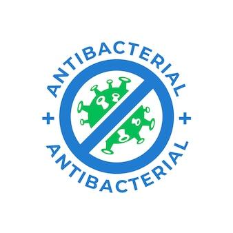 Logotipo antibacteriano