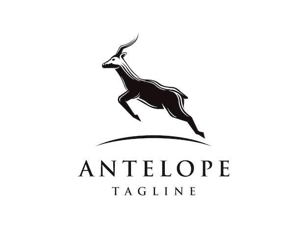 Logotipo de antílope saltando