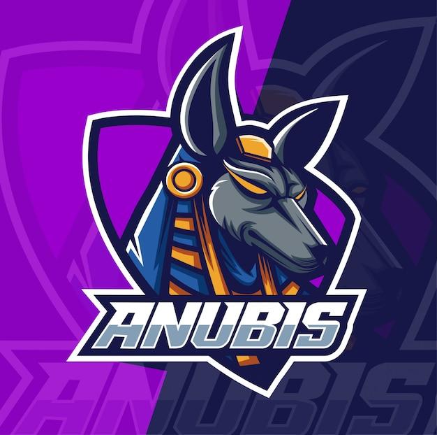 Logotipo de anubis mascot esport