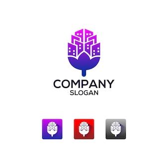 Logotipo de la aplicación de bienes raíces
