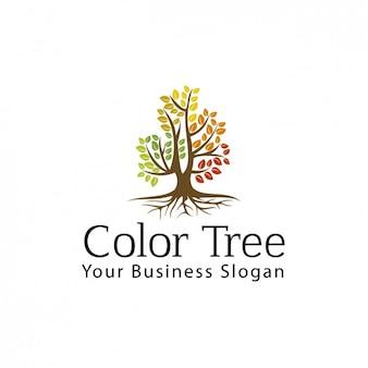 Logotipo del árbol del color