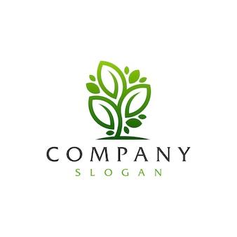 Logotipo del árbol de la hoja