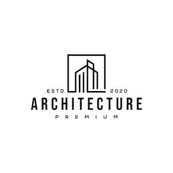 Logotipo de arquitectura de construcción