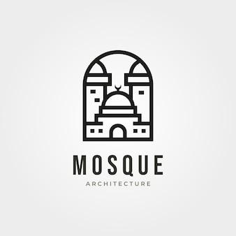 Logotipo de la arquitectura de la mezquita