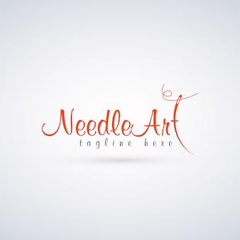 Logotipo de arte de aguja