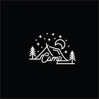 Logotipo de arte de línea de leva