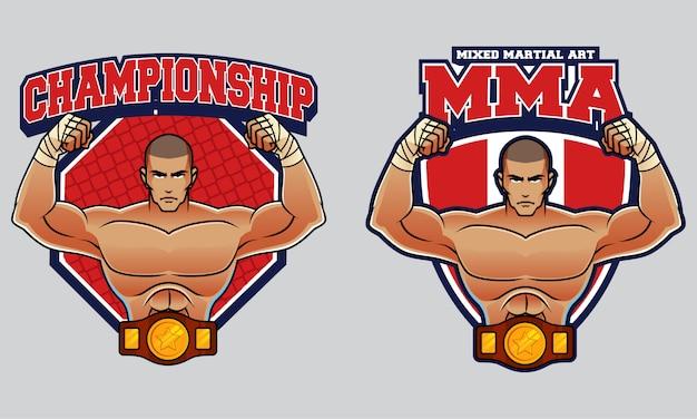 Logotipo de arte marcial mixto