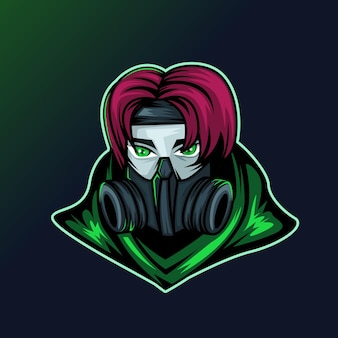 Logotipo de assassin ninja esport