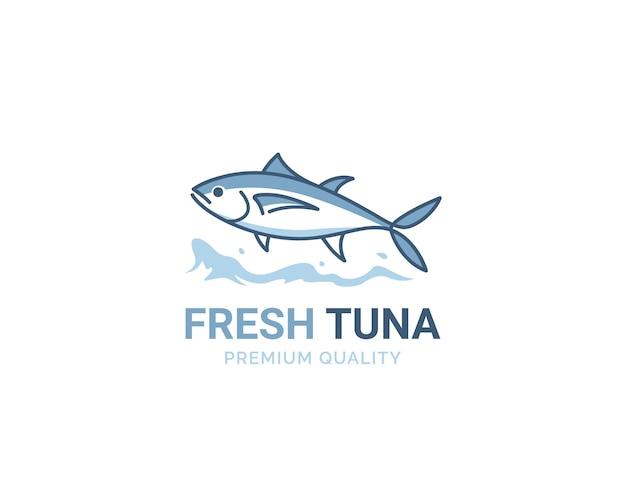 Logotipo de atún fresco