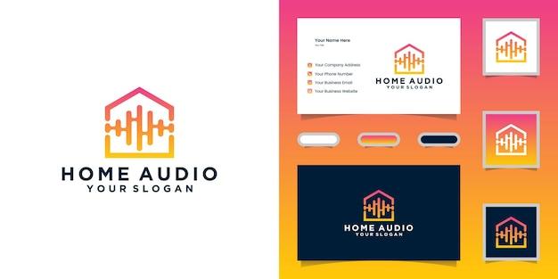 Logotipo de audio home y tarjeta de visita.