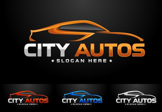 Logotipo de auto deportivo logo auto