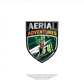 Logotipo de aventura aérea