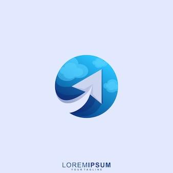 Logotipo de avión de papel