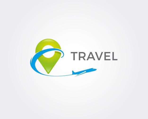 Logotipo de avión y viajes. plantilla de vector de icono y símbolo.