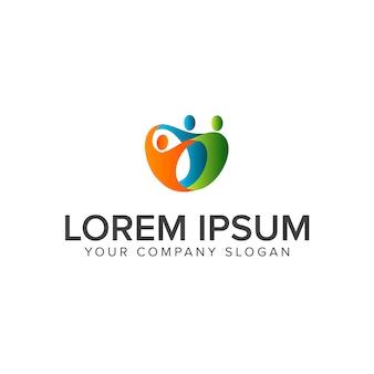 Logotipo de ayuda de personas