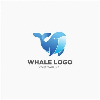 Logotipo de ballena jorobada azul