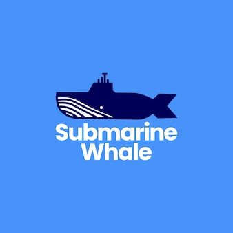 Logotipo de ballena jorobada submarina