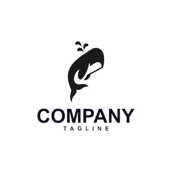 Logotipo de ballena minimalista premium