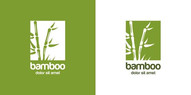 Logotipo de bambú
