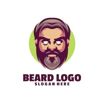 Logotipo de barba aislado en blanco