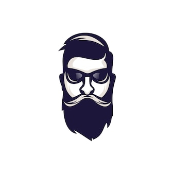 Logotipo de barba machista