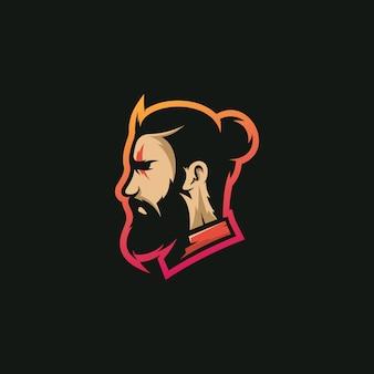 Logotipo de barba man