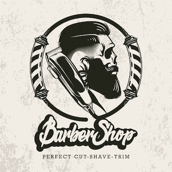 Logotipo de barbería retro