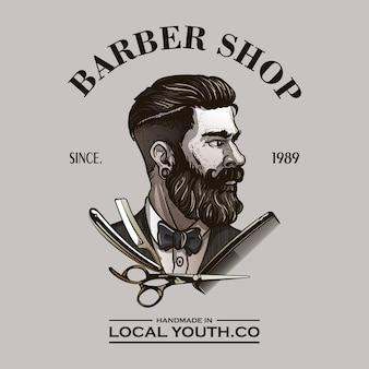 Logotipo de barbero