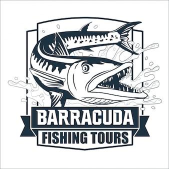 Logotipo de barracuda fishing tours