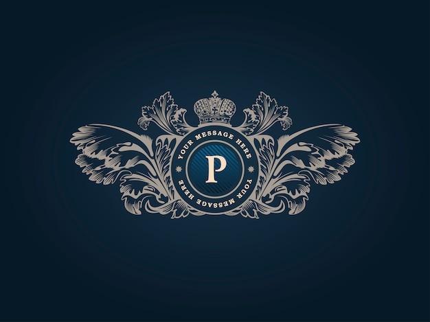 Logotipo barroco de lujo