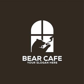 Logotipo de bear cafe