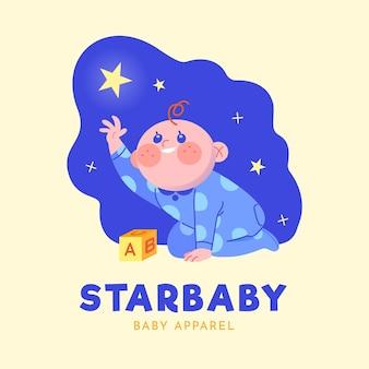 Logotipo de bebé detallado