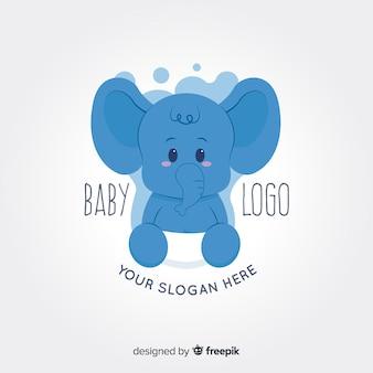 Logotipo de bebé elefante