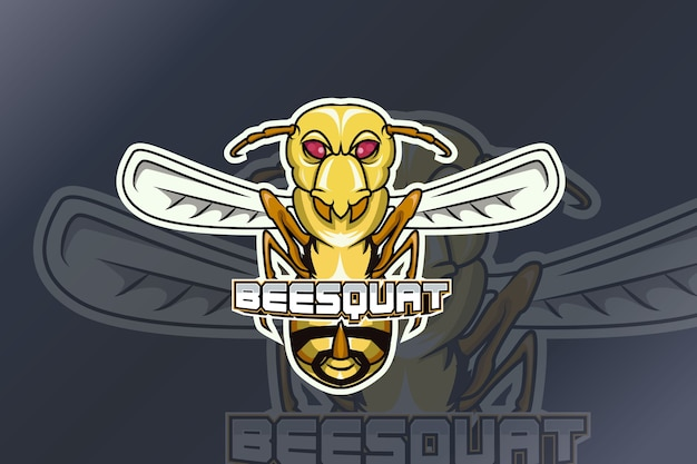 Logotipo de bee squat e sport