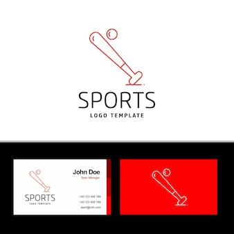 Logotipo de béisbol y tarjeta de visita