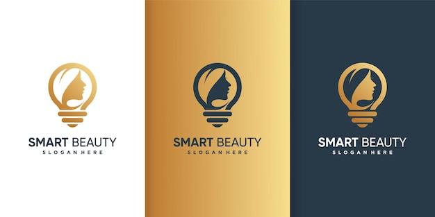 Logotipo de belleza inteligente